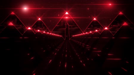hyperspace : 3D Red Sci-Fi Pyramids Tunnel Loop Motion Background