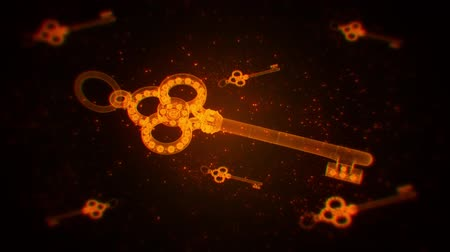 hálózat : Orange Abstract Keys VJ Loop Motion Graphic Background Stock mozgókép