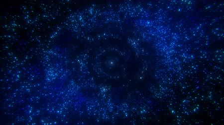グリマー : Blue Glowing Particles Rings Circles Loop Abstract Background