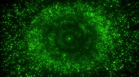 glittery : Green Glowing Particles Rings Circles Loop Abstract Background