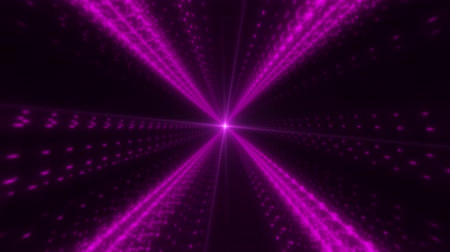 speed tunnel : Purple Particles X Tunnel Loop Motion Graphic Background Stock Footage