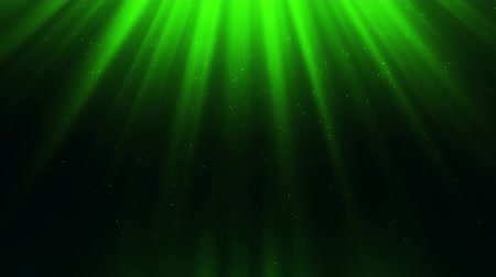 Green Light Rays & Dust Particles Loop Motion Background