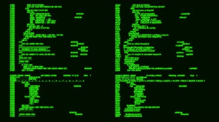 Green Hacker Text - Database Encryption Decryption Motion Background