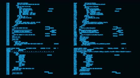 Blue Hacker Text - Database Encryption Decryption Motion Background