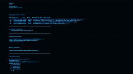 Blue Hacker Text - VPN Server Log Motion Background