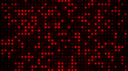 Screen of Digital Red Dots Loop Motion Background