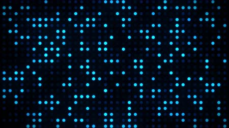 Screen of Digital Blue Dots Loop Motion Background Стоковые видеозаписи