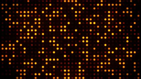 Screen of Digital Gold Dots Loop Motion Background Стоковые видеозаписи