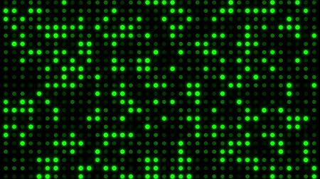 Screen of Digital Green Dots Loop Motion Background