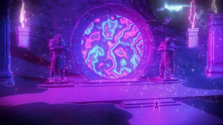 dárda : 3D Epic Hero & Magic Stargate Scene VJ Loop Background
