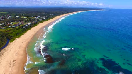 finest : stunning aerial of one mile beach