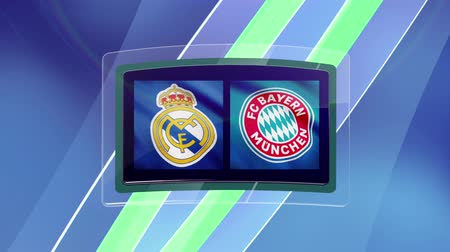 real madrid : Intro. Real Madrid vs Bayern Munich. Animation for a football match