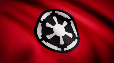 luke : The animation of the flag of the Galactic Empire. The star Wars theme. Editorial only use Stock Footage
