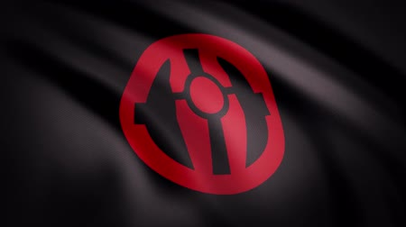 luke : The animation of the flag of the Mandalorian symbol. The star Wars theme. Editorial only use