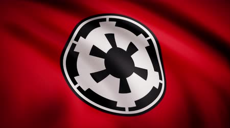 luke : The animation of the flag of the New Galactic Empire. The star Wars theme. Editorial only use Stock Footage