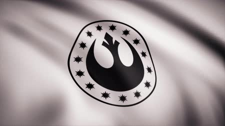 anka kuşu : Star Wars New Republic Symbol on flag. The Star Wars theme. Editorial only use