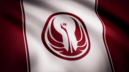 anka kuşu : Star Wars Old Republic Symbol on flag. The Star Wars theme. Editorial only use Stok Video
