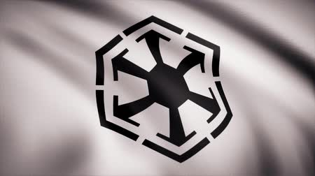 luke : The animation of the flag of the Sith Empire. The star Wars theme. Editorial only use