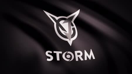 intel : Animation waving flag symbol of professional eSports team VGJ Storm. A world-class cyber sports team. Editorial use only