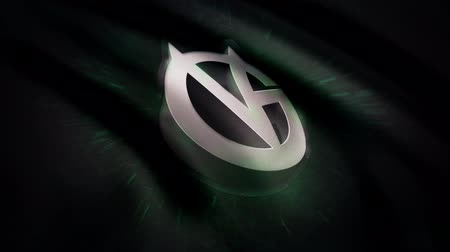 intel : Animation waving flag symbol of professional eSports team Vici Gaming. A world-class cyber sports team. Editorial use only