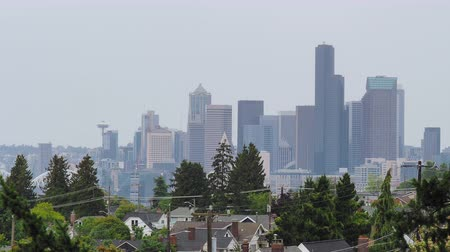 pacífico : View of skyline of Seattle viewing north from Jefferson Park
