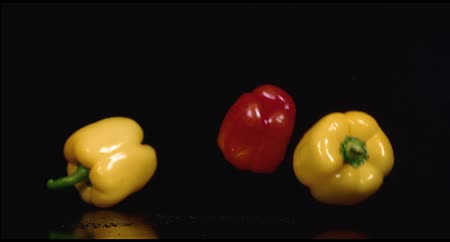 peper : colored peppers over white background