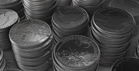 esterlino : Stacks of silver coins