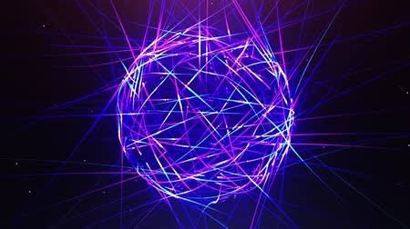 милый : Abstract neon ball made from lines