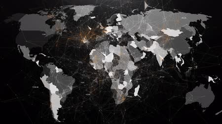 nowoczesne technologie : Abstract image of global networks in the world in the form of plexus Wideo