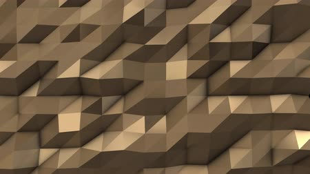 trójkąt : Gold abstract low poly triangle field
