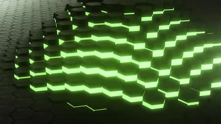 klenot : VJ loop hexagon glow digital background