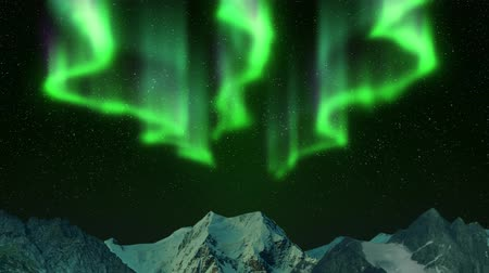polar circle : Northern Lights in the mountains