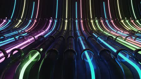 gösterileri : Loop VJ neon lines running through pipes