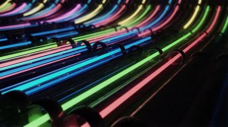 perspektif : Loop VJ neon lines running through pipes