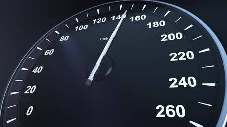 kilometer : Car Speedometer Macroplane Gaining Speed Stock Footage