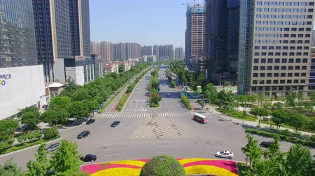 xian : Xian, China,16 May 2017,AERIAL shot of cityscape and city skyline at ,Xian,China. Stock Footage