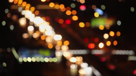 luci notturne : Defocused di Cars light, xian, shaanxi, Cina