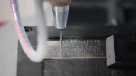 grawerowanie : XIAN - AUG 29:View of pneumatic marking machine, Aug 29, 2013, Xian city, Shaanxi province, china.