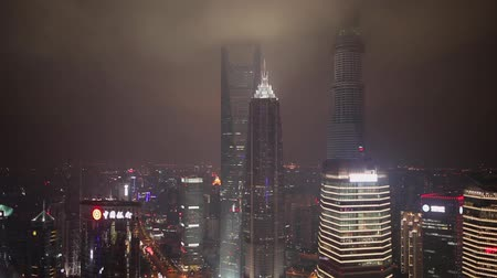ekstra : Traffic and cityscape of Shanghai at night , Shanghai, China