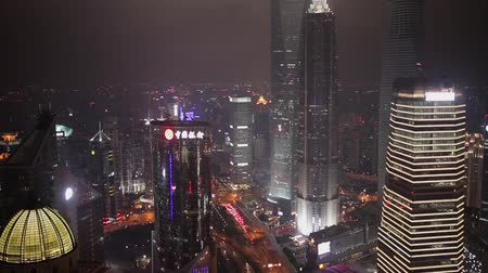 дополнительный : Traffic and cityscape of Shanghai at night , Shanghai, China