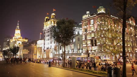 ассоциация : SHANGHAI China - SEP 10:The Bund at night in Shanghai. Night view along The Bund in central Shanghai