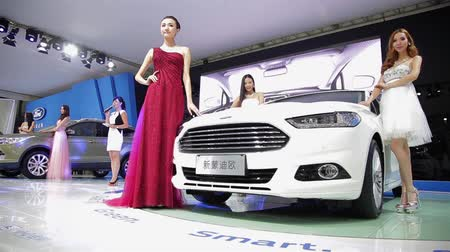 expo : Xian CHINA, - Sep 30 2013: -Macao Auto Show, Stock Footage
