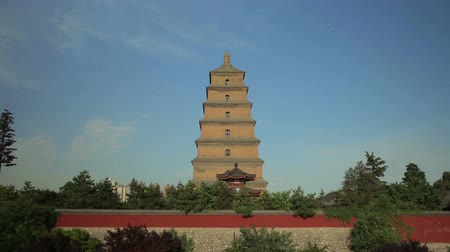 imparator : Timelapse of Greater Wild Goose Pagoda xian,shaanxi,China