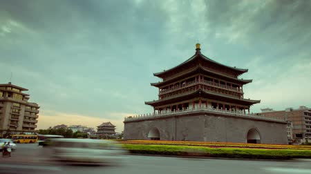 embouteillages : Time-lapse du clocher de Xian
