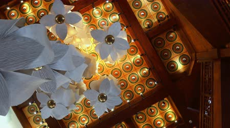 plafond : view of a pagoda ceiling showing traditional Chinese architecture,Xian,China.