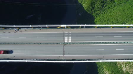 the suspension bridge : Aerial view of siduhe suspension bridge on canyon,Hubei,China.