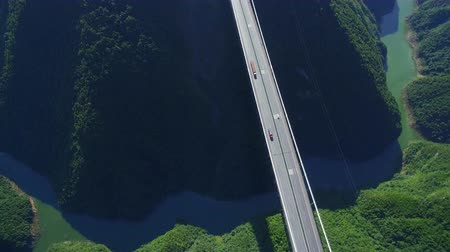 süspansiyon : Aerial view of siduhe suspension bridge on canyon,Hubei,China.