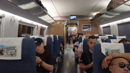 Guangyuan SICHUAN CHINA, - JUNE 05 2019: -View of Interior of high-speed rail car