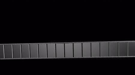 film roll : 3D animation - abstract film strip. Stock Footage