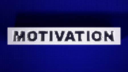 motivasyon : Text 3D animation of word motivation on pin board. Stok Video